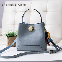 Small CK handbags 2019 new bucket bag Europe and the United States shoulder bag fashion leather bag leather handbag diagonal package