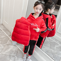 Girls net red suit autumn 2019 new large childrens childrens summer bib pants Western fashion autumn fashion