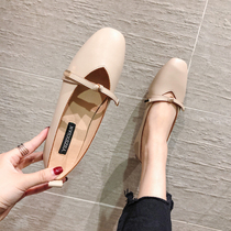 Granny shoes girl 2019 new summer flat shoes single shoes Korean version of the bean shoes gentle lady shoes fairy shoes