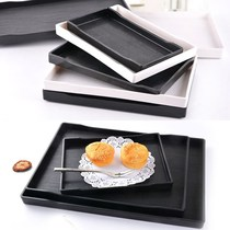 Japanese rectangular tray home hotel European Cup beauty salon plate trumpet tea tray home storage