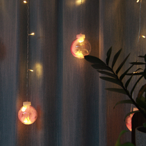 Rental house renovation net red decorative lighting girl Atria bedroom layout romantic feather ins ball hanging lights