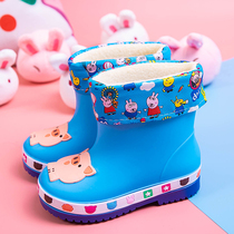 Four seasons childrens rain boots Boys Girls Baby Shoes childrens rain boots cute princess non-slip childrens students water shoes