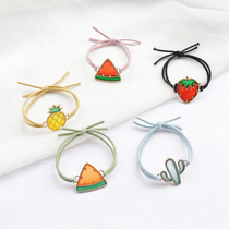 Summer small fresh fruit Hair Ring head rope hair accessories South Korea simple female Cactus hair band hair rope leather cover