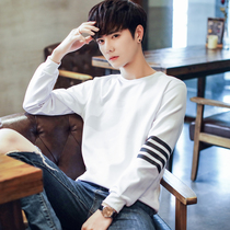 Law School Eagle spring 2019 New mens sweater hedging Korean version of the loose long-sleeved T-shirt mens round neck shirt
