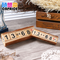 Log head retro calendar zakka trinkets home desktop novelty Creative Cafe Shop crafts