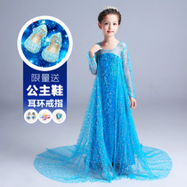 Frozen princess skirt girls autumn dress children's dress Aisha Aisha love sand clothing genuine skirt