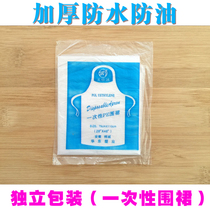 Thickened dining home Hot Pot Shop barbecue gear disposable Apron individually wrapped waterproof and anti-oil