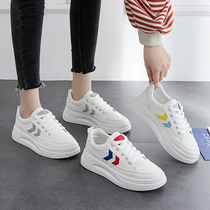 White shoes womens shoes 2019 autumn new Korean version of the red white shoes shoes wild casual sports dad tide shoes