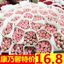 Carnation flowers bouquet Wholesale a tie 20 bulk straight batch base straight fathers day City Express