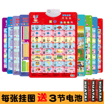 Children know the baby Real chart chart will sound two-sided sound reading phonetic sound pre-school full set