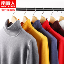 Antarctic men's sweater men's sweater autumn new 2019 trend high-necked sweater collar bottoming shirt autumn yz