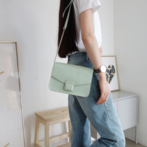 Choi Leather Factory homemade palm head layer cowhide shoulder oblique strap steel chain Summer new female Xiao Fang bag