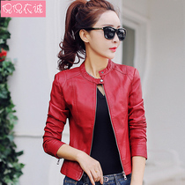 2019 spring new Leather Women short black motorcycle pu leather jacket ladies small leather jacket self-cultivation