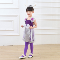 Small lotus style ninth creak my costumes dance New children's costumes skirt clothing