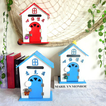 Pastoral style kindergarten heart language mailbox home decoration suggestion box photography props cute cabin decoration