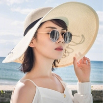 Hat lady sun visor big Eaves fashion Korean version of the beach hat with summer Andy explosion rush