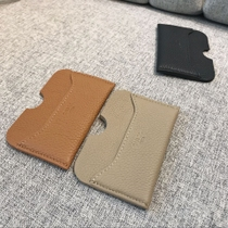 Choi Pilly Head cowhide card Baotou layer fog surface bovine neck cowhide 0 Wallet Leather Card bag