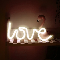 led neon letter lamp night light girl room layout bedroom bedside decorative lights fire bird ins with the paragraph